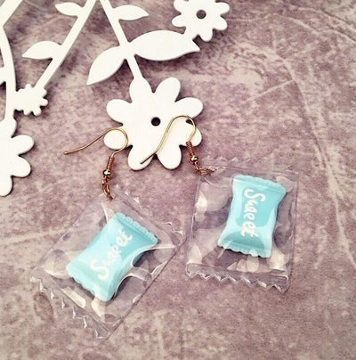 Teenytopia Sweet Candy Earrings - Adorable resin earrings made to resemble tiny pieces of candy. So cute!