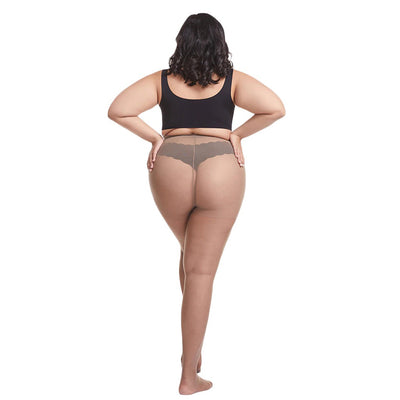Essentials Queen-Size Ultra-Stretch 20D Sheer Tights - Extra-thin, extra-stretchy pantyhose for plus-size people!