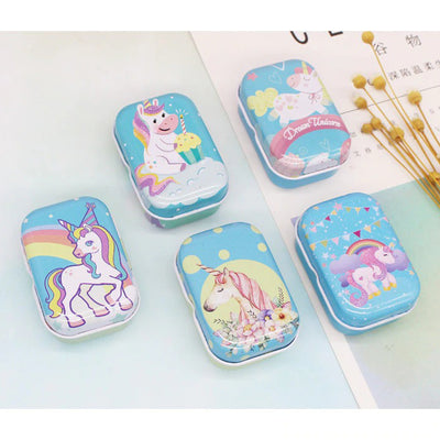 Teenytopia Trinket Tins - Unicorns Unleashed - Cute little metal tins adorned with colourful unicorn designs in an assortment of colours and styles.