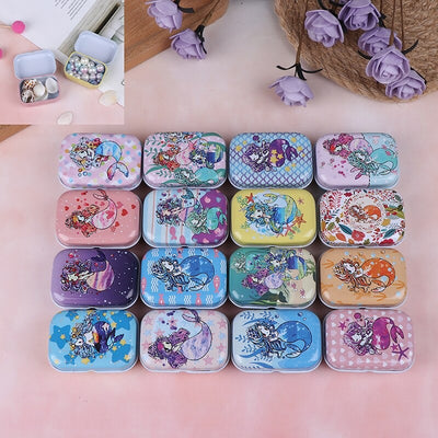 Teenytopia Trinket Tins - Marvellous Mermaids - Cute little metal tins adorned with colourful mermaid designs in an assortment of colours and styles.