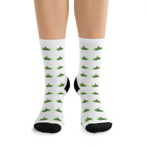 Details about  /Womens Socks Crew Size 4-10 Lucky Socks Four Leaf Clovers 4 Socks 2 Packs Of 2