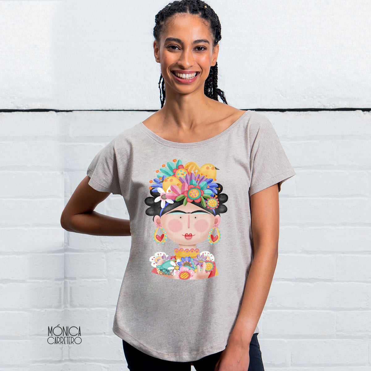 Camiseta Frida color arena.