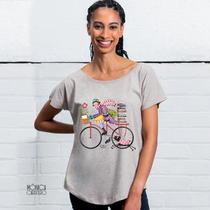Camiseta Bicicleta color arena.