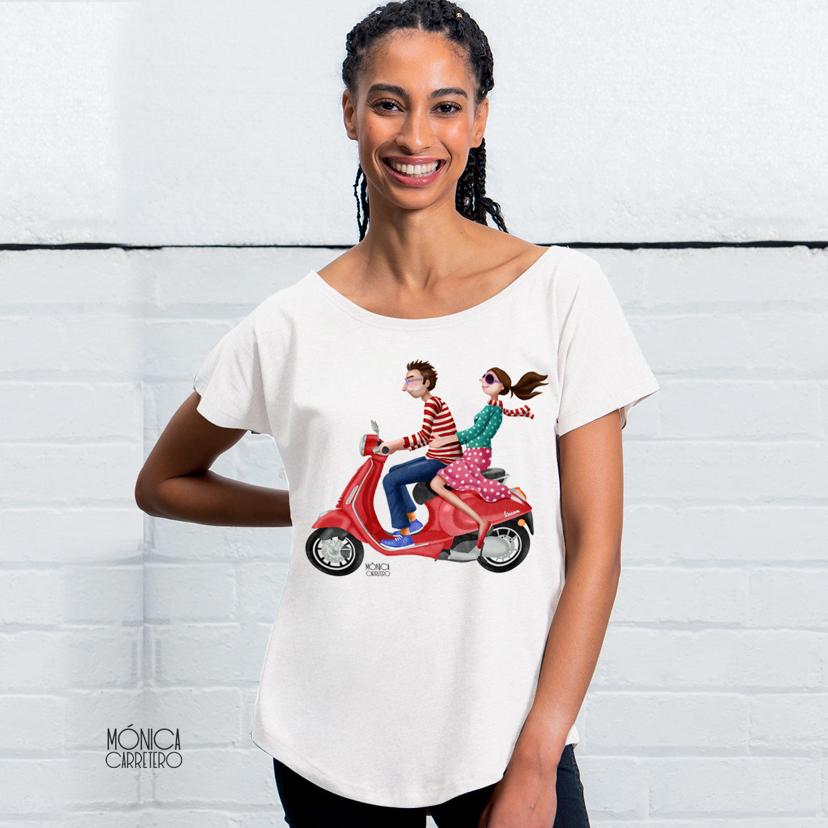 Camiseta Vespa color blanco.