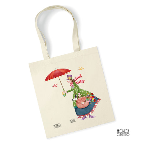 Tote Natural Mary Poppins
