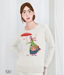 Sudadera Blanca Mary Poppins