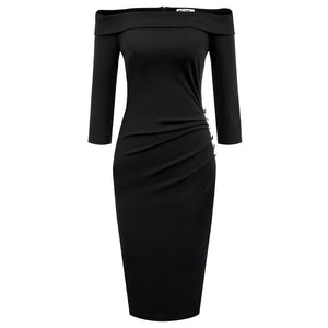 Ramona Knit off the shoulder bodycon dress