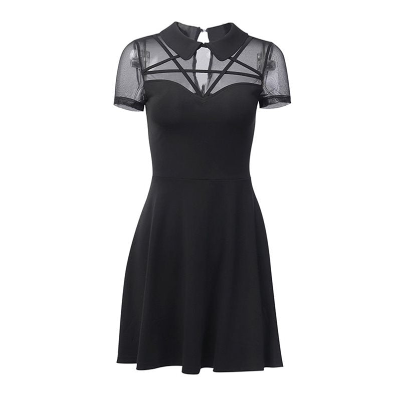 Pentagram Mesh Mini Dress