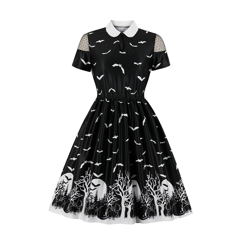 Dark Forest Peter Pan collar Bat Dress