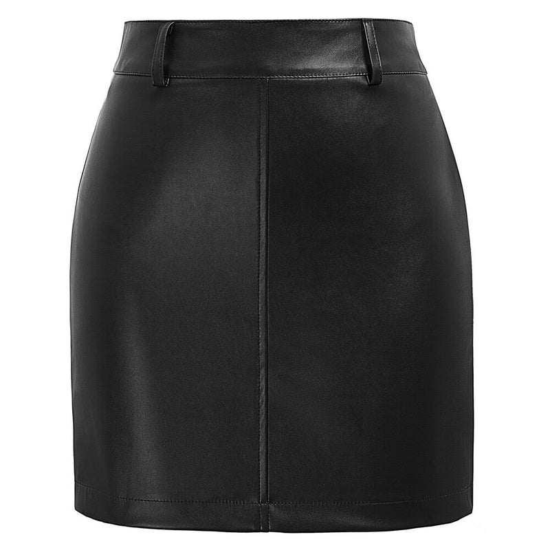 Joan Vegan Leather Mini Skirt