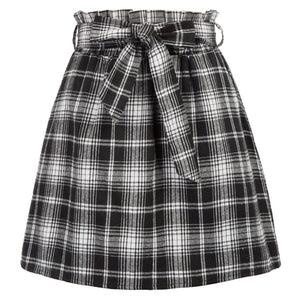 Mod Style Vintage Plaid Mini Skirt