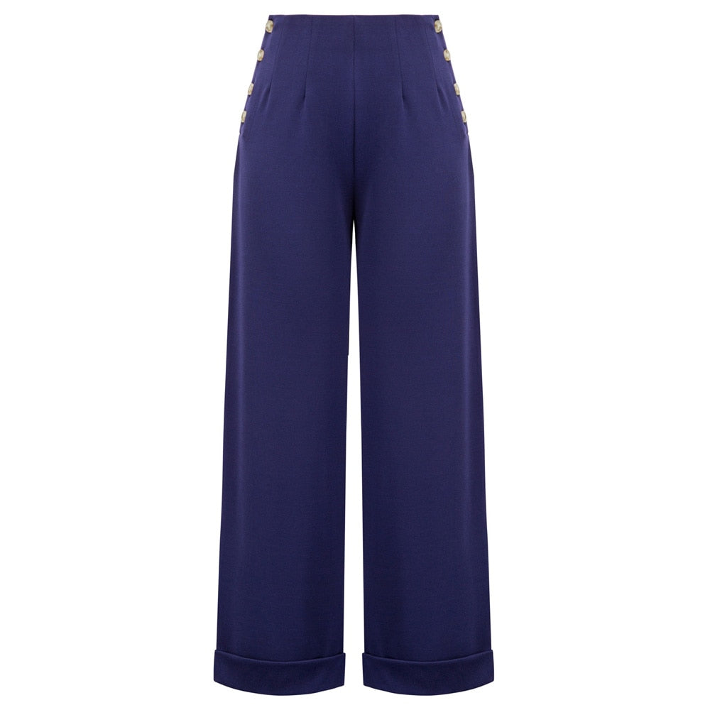 Mia Comfy High Waist Wide Leg Nautical Pants