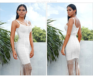 Penelope Fringe Bodycon Bandage Party Dress
