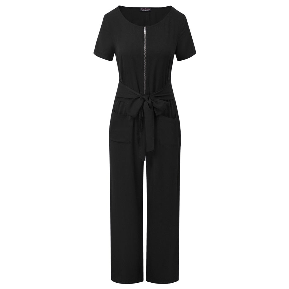 Selena Zip-Up Jumpsuit