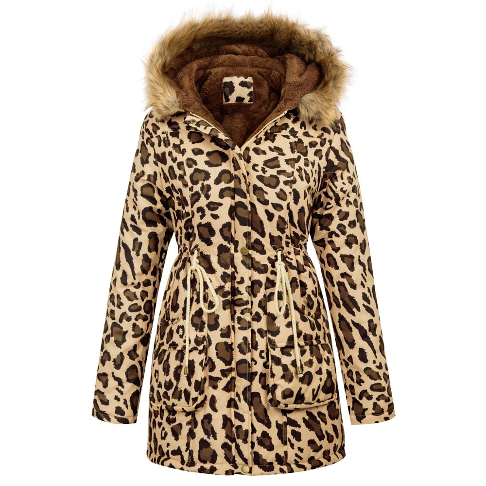 Moscow Womens Warm Fleece Lined Parka with faux fur trim