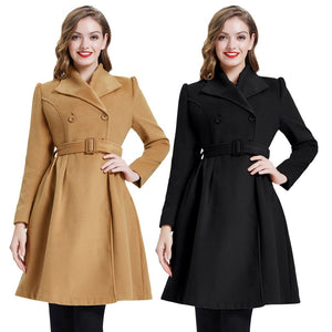 Lilly Wool Blend Vintage Style Coat