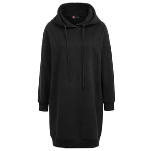 Oversized Thigh Length Long Sleeve Hoodie