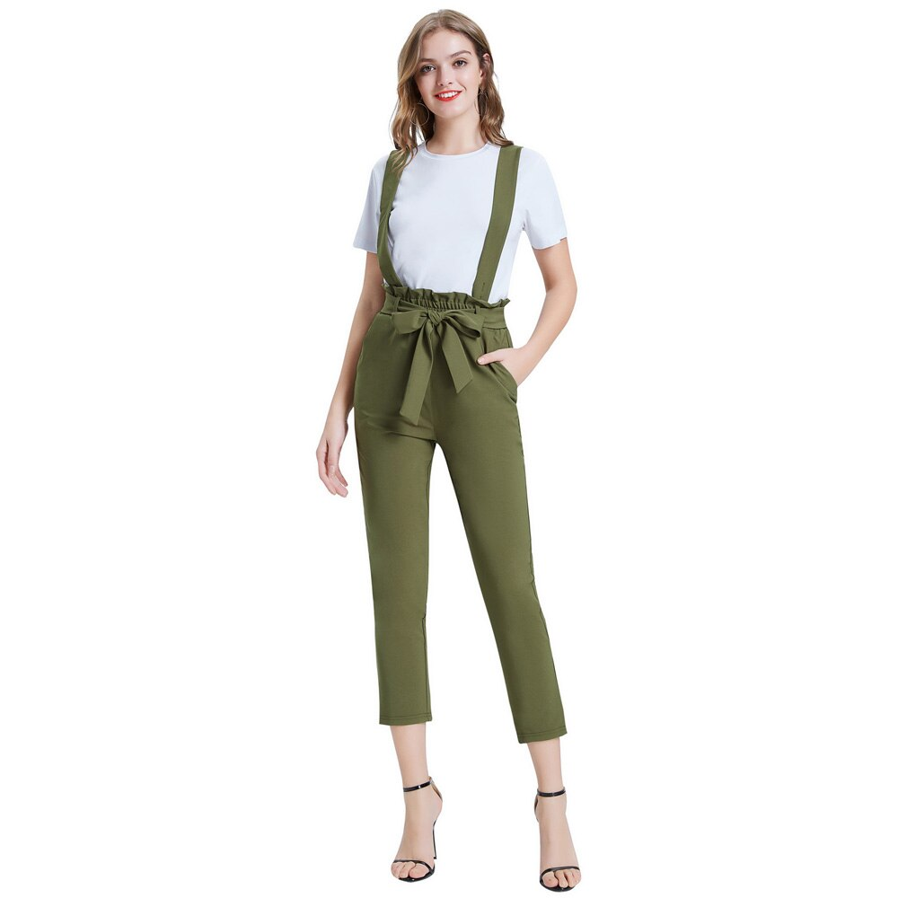 Sarah High Waist Overall Skinny Cropped Length Trousers
