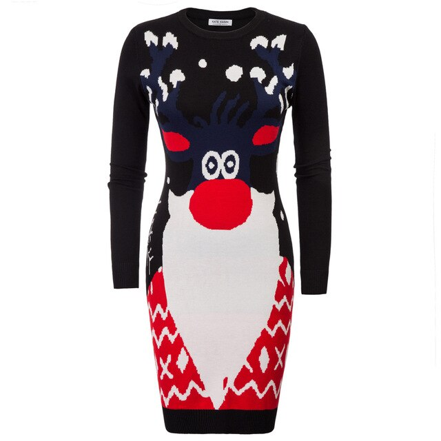 Amelia Holiday Knitted Sweater Dress