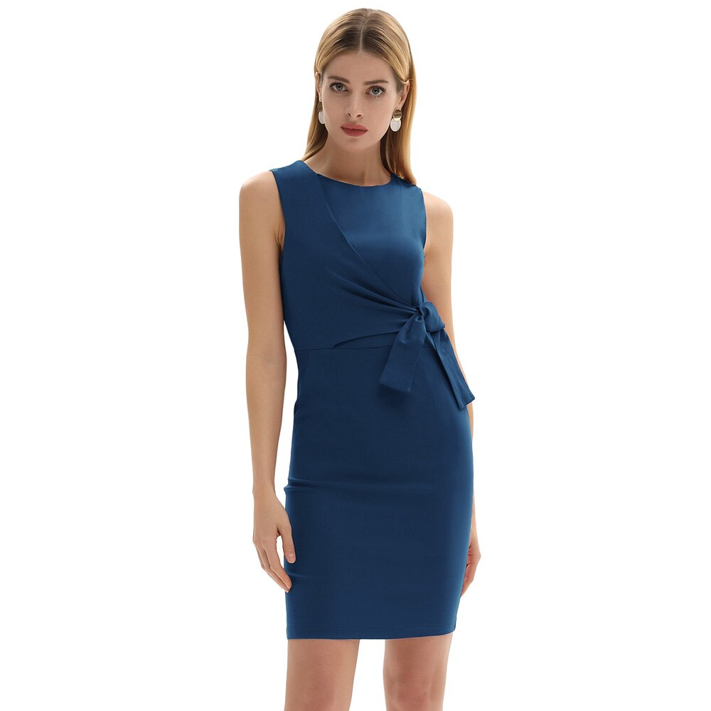Jane Bodycon Pencil Side Tie Business Pencil Dress