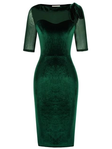 Palmer 1950s Vintage Style Velvet Cocktail Dress