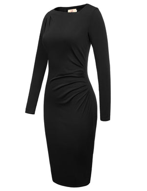 Harper knit long sleeve cocktail dress