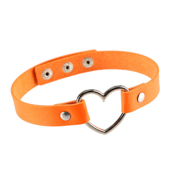Punk Rock Heart Choker