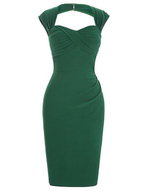Margot 40s bombshell bengaline bodycon pencil dress