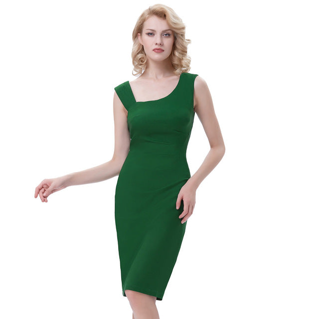 Carmen Business Chic Bodycon Pencil Dress