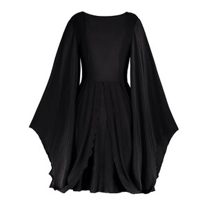 Gothic Batwing Sleeve Dress