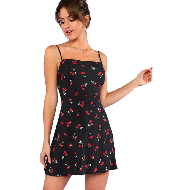 Cherry Sweetheart Cami Dress