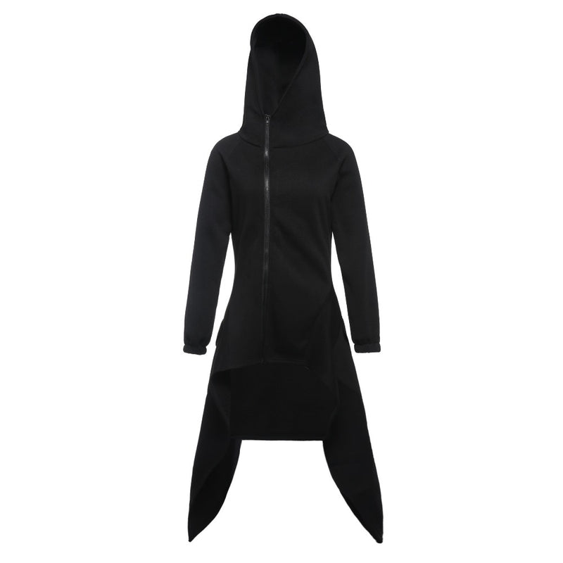 Gothic  Black Hooded Sweatshirt