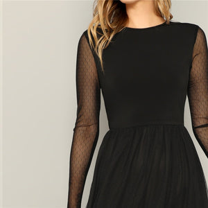Southern Witch Mesh Overlay Dress