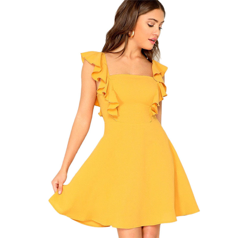 Sweetie Ruffle Skater Dress