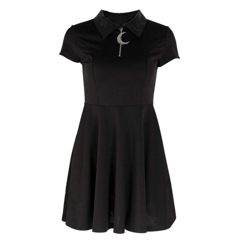 Gothic black Moon Dress