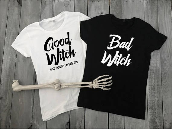 Gothic Good Witch Bad Witch T-Shirts
