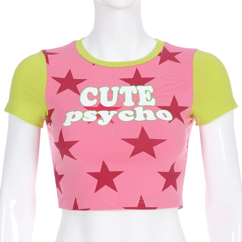 Cute Psycho Star Crop T
