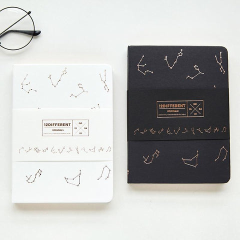 """Constellation"" Hard Cover Beautiful Blank Sketchbook Journal Freenote Diary Study Notebook Stationery Gift"