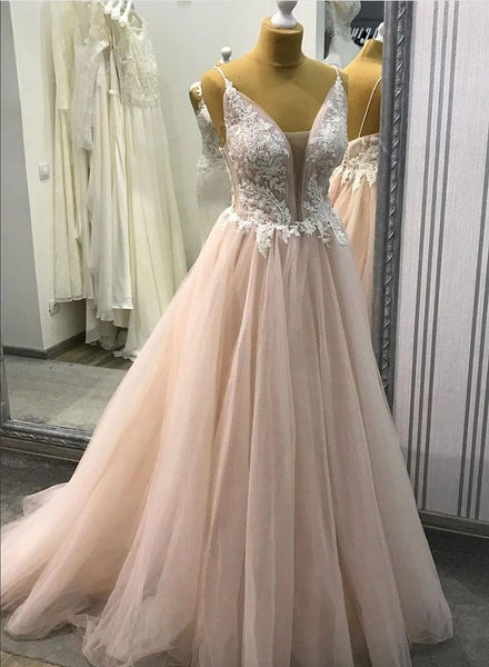 2020 Prom Dress Deep V Neckline, Prom Dresses, Evening Dress, Dance Dress, Graduation School Party Gown, PC0335 - Promcoming
