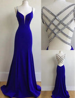Royal Blue Prom Dress Backless, Evening Dress ,Winter Formal Dress, Pageant Dance Dresses, Graduation School Party Gown, PC0098 - Promcoming