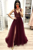 2020 Prom Dress For Teens with Slit, Evening Dress, Formal Dress, Graduation School Party Gown, PC0491 - Promcoming