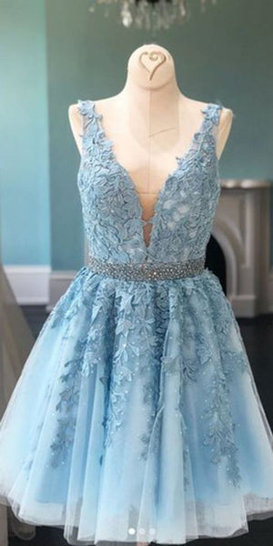 Homecoming Dress with Lace, Short Prom Dress ,Winter Formal Dress, Pageant Dance Dresses, Back To School Party Gown, PC0671