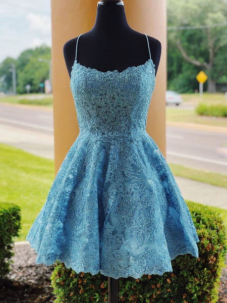 Lace Homecoming Dresses, Short Prom Dress ,Winter Formal Dress, Pageant Dance Dresses, Back To School Party Gown, PC0640