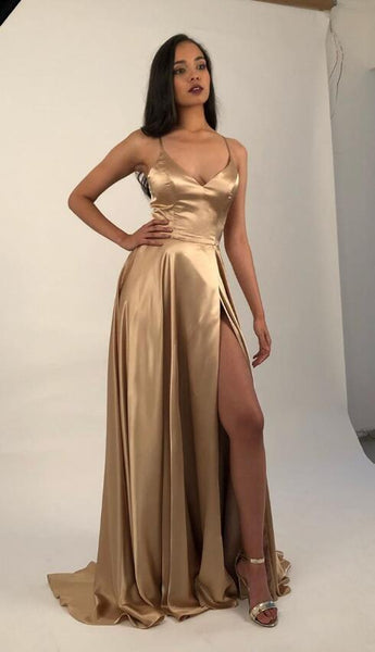 Sexy Prom Dress with Slit, Evening Dress ,Winter Formal Dress, Pageant Dance Dresses, Graduation School Party Gown, PC0262 - Promcoming