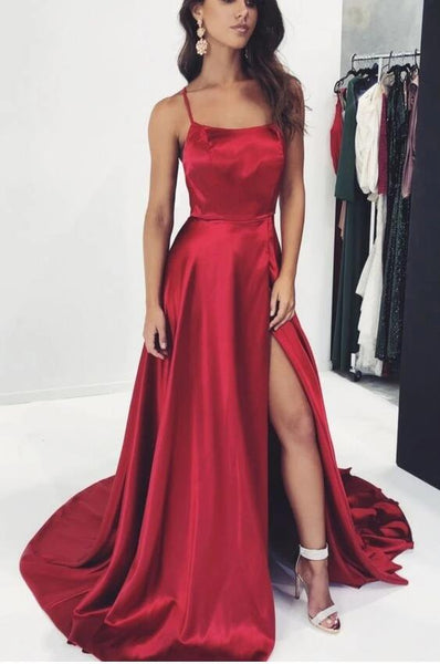 2020 Prom Dress High Slit, Evening Dress, Dance Dress, Graduation School Party Gown, PC0457 - Promcoming