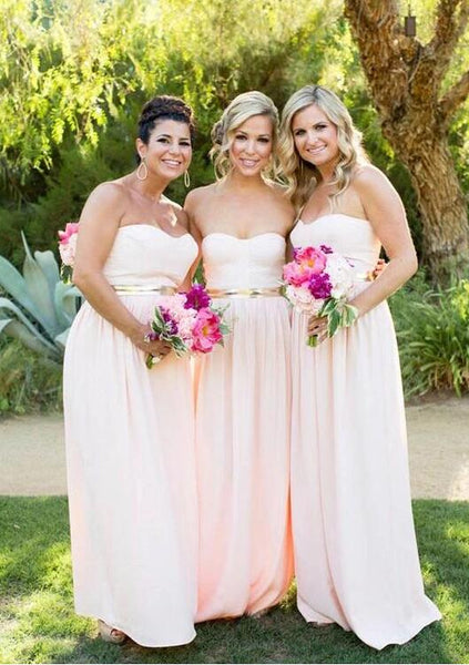 Baby Pink Bridesmaid Dresses, Bridesmaid Dress, Wedding Party Dress, Dresses For Wedding, NB0035