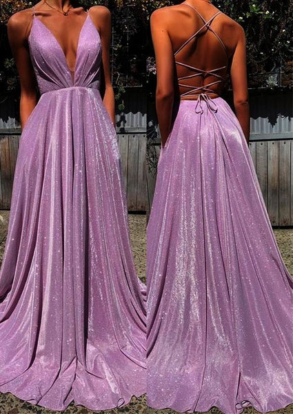 Shinning Prom Dress V Neckline, Prom Dresses, Evening Dress, Dance Dress, Graduation School Party Gown, PC0410 - Promcoming