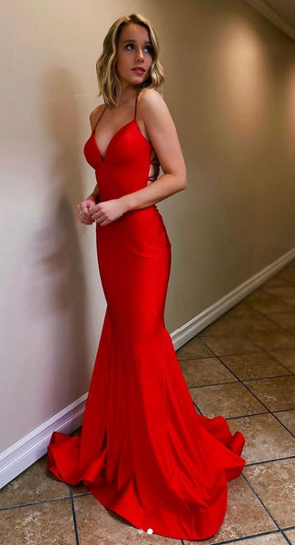 Red Mermaid Prom Dress, Evening Dress, Special Occasion Dress, Formal Dress, Graduation School Party Gown, PC0511 - Promcoming