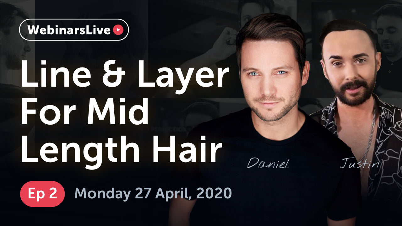 Watch our FREE webinar for graudates and assistants | Episode 2 - How to Line & Layer Mid-Length Hair