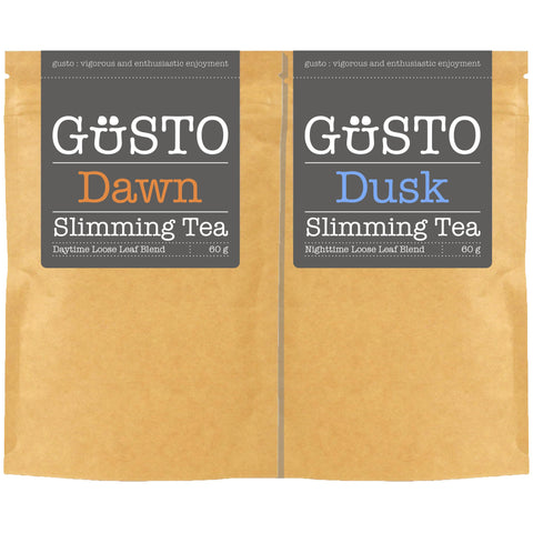 GUSTO Slimming Tea - Twin Pack - Dawn & Dusk